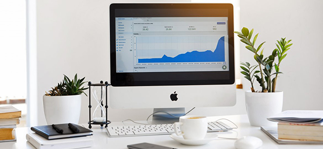 Coaching over a computer with analytics on it