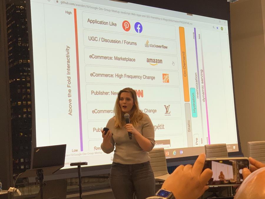 Google Meetup - Alexis Sanders speaking