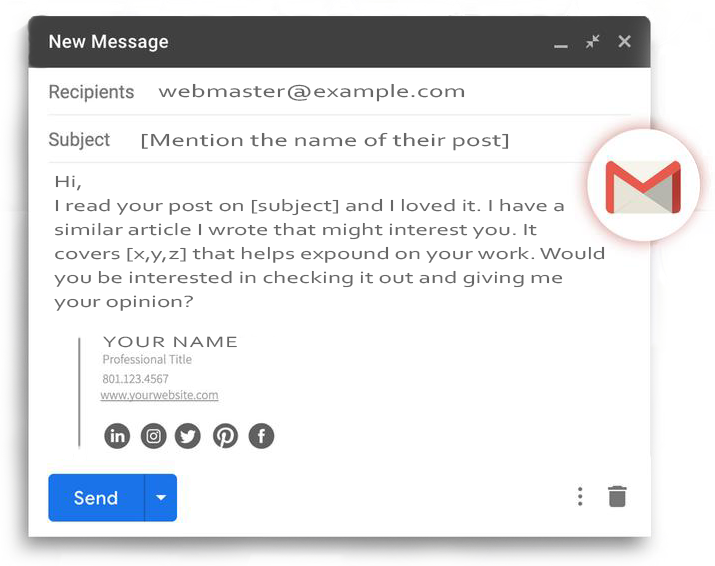 outreach email template